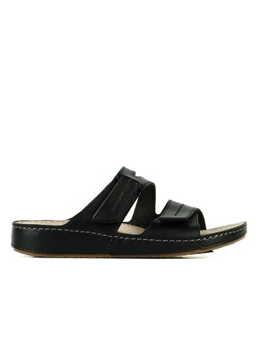 Hammer Jack Roster Hakiki Deri Kadın Terlik / Sandalet 420 702.023-Z Siyah